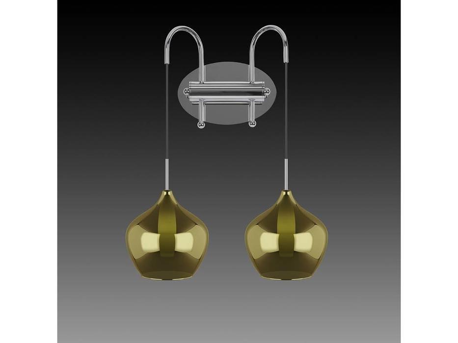 Lightstar: Pentola: бра 2х25W G9 (серебро, коричневый)