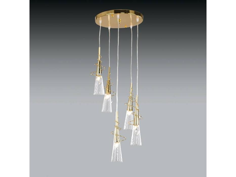 Lightstar: Aereo: люстра 5х40W G9 (золото)