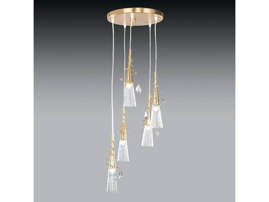 Lightstar: Aereo: люстра 5х40W G9  (золото матовое)