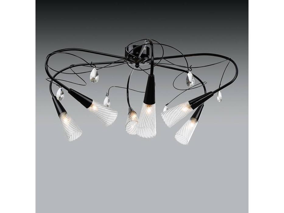 Lightstar: Aereo: люстра  6х40W G9 (черный)