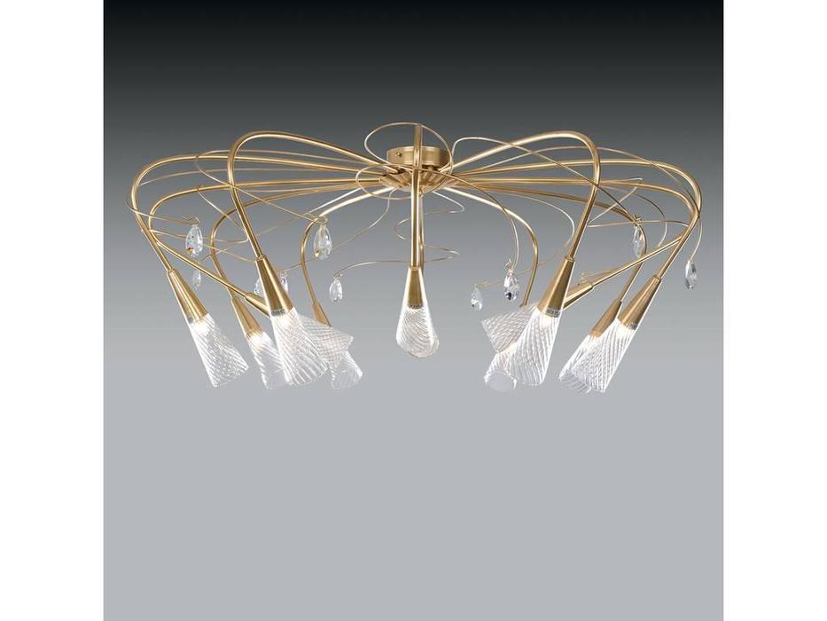 Lightstar: Aereo: люстра  12х40W G9 (золото матовое)