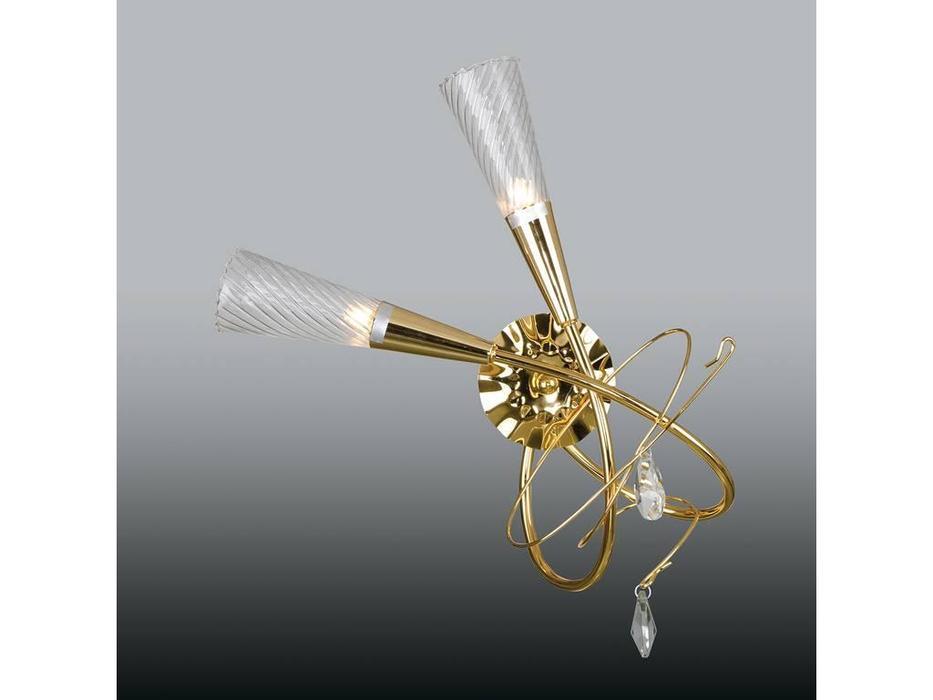 Lightstar: Aereo: бра  2х40W G9 (золото)