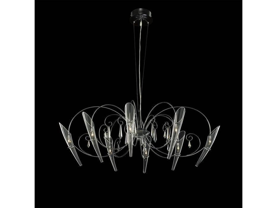 Lightstar: Scarabeo: люстра подвесная  8х35W G4 (хром)