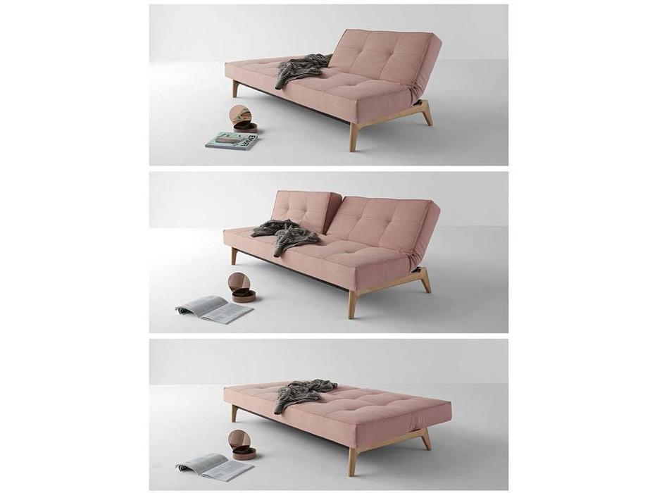 Innovation: Splitback: диван с деревянными ножками