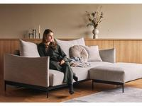 Innovation: Malloy: диван 3 местный раскладной (черный металл, ткань)