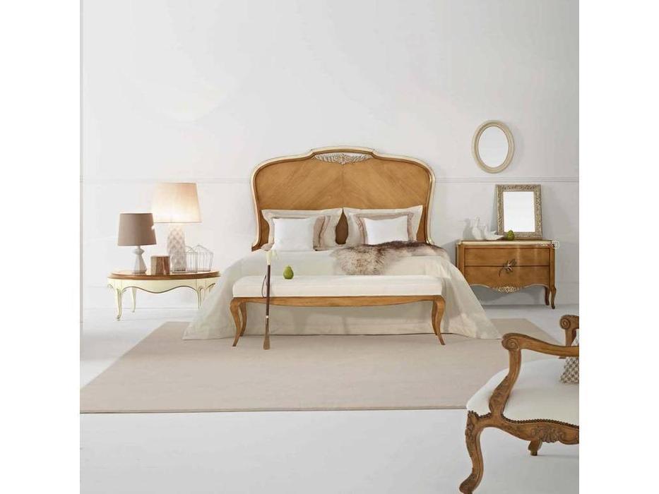 AM Classic: Gala: кровать 160х200  (Amber Velho c/Po+White Patine)