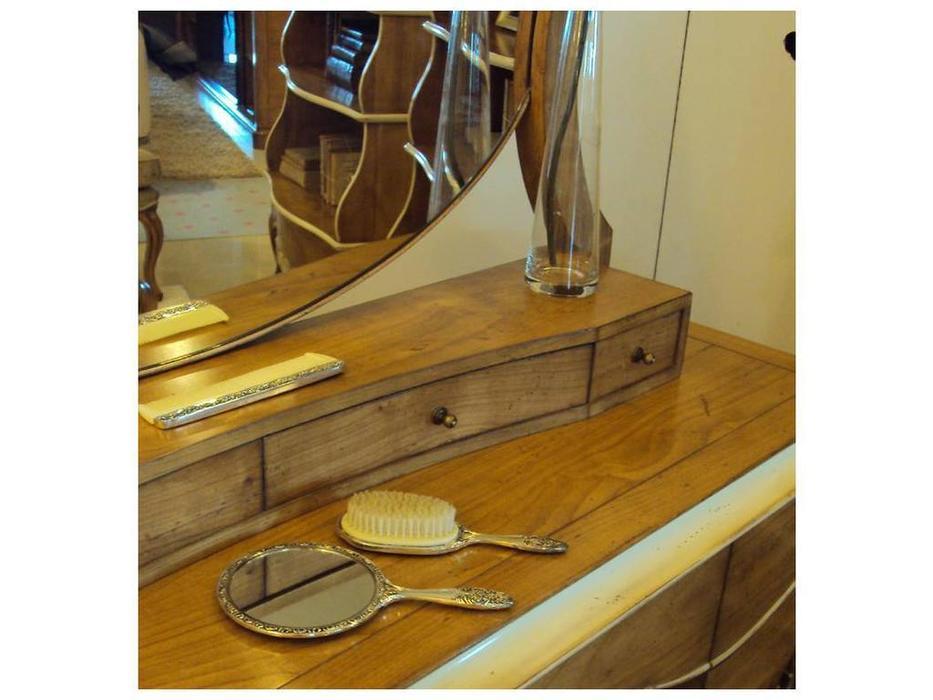 AM Classic: Gala: стол туалетный  с зеркалом (amber velho c/Po, white patine)