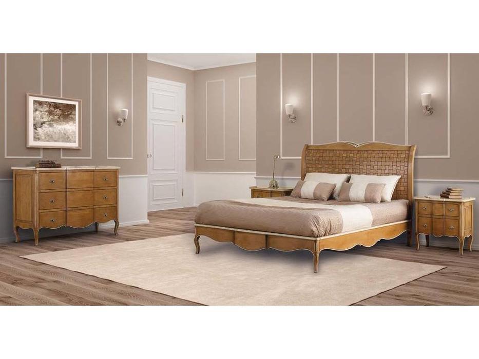 AM Classic: Dalila: спальная комната (amber groseado, white patine)