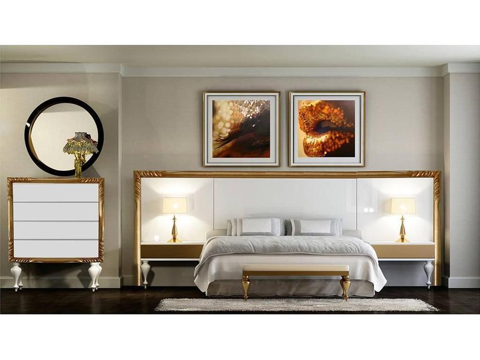 DeMiguel: Gold Edition: изголовье кровати  (белый, золото)