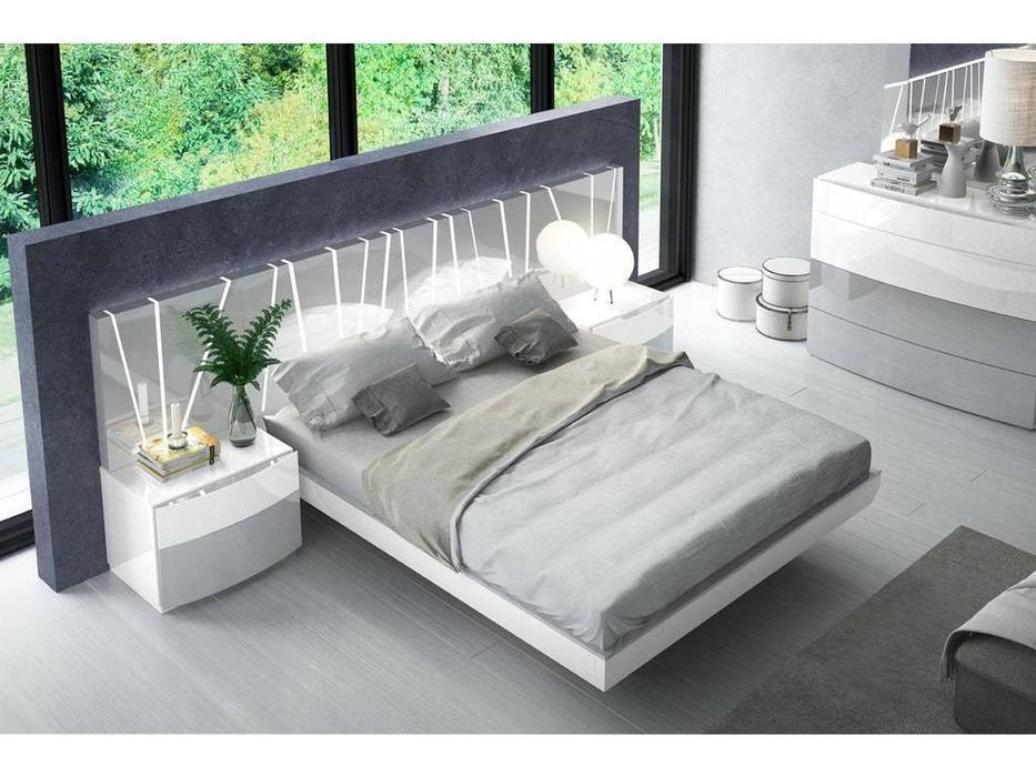 Fenicia Mobiliario: Vanessa: кровать 160х200  (белый, серый)