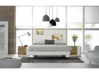 Fenicia Mobiliario: 611: спальная комната 180 (белый матовый, натуральный шпон дуба)