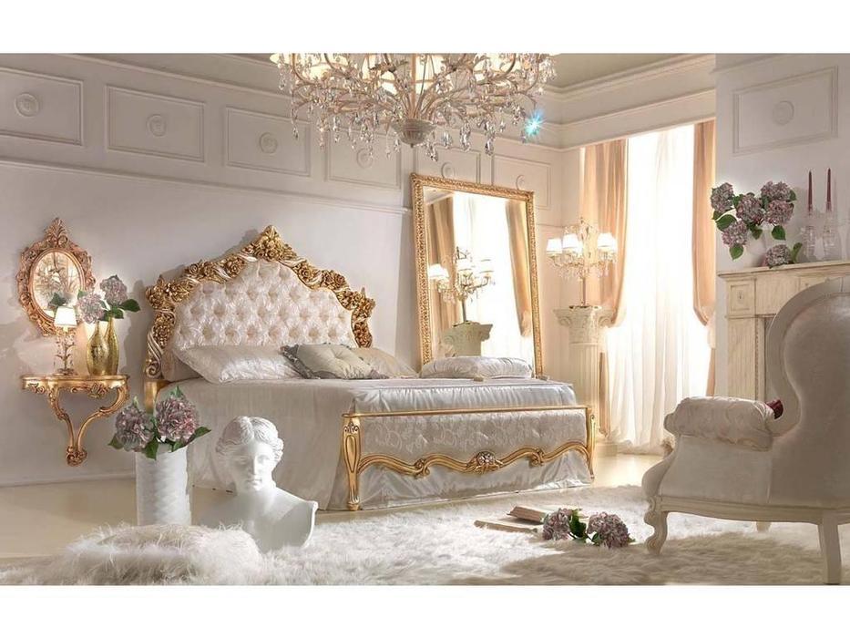 Antonelli Moravio: Atena: кровать 180х200  ткань (золото)