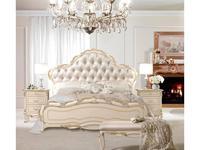 Antonelli Moravio: Signoria: кровать 180х200  (слоновая кость, ткань кат.А)