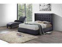 ESF: кровать 160х200  ткань бархат (серый)