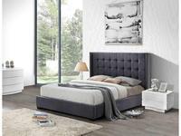 ESF: кровать 180х200  ткань бархат (серый)