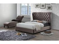 ESF: кровать 160х200  ткань бархат (темно коричневый)