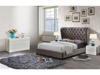 ESF: кровать 180х200  ткань бархат (темно коричневый)