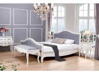 ESF: кровать 180х200  ткань серого цвета (белый, ткань)
