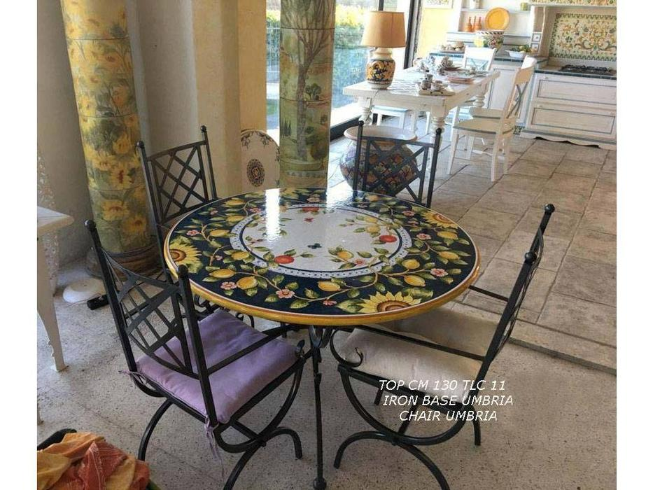 L Antica Deruta: Campagna Umbra: стол обеденный  (беж, синий)