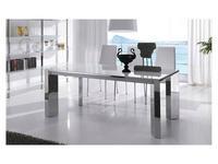 RamiroTarazona: MANHATTAN: стол обеденный раскладной (blanco, cromo)