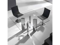RamiroTarazona: LOGIC: стол обеденный (vetro, aluminio)