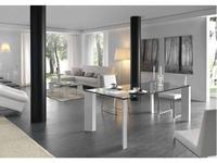 RamiroTarazona: LOGIC: стол обеденный (vetro, blanco)