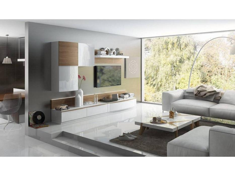 Fenicia Mobiliario: Fenicia: стенка в гостиную  (белый, дуб)