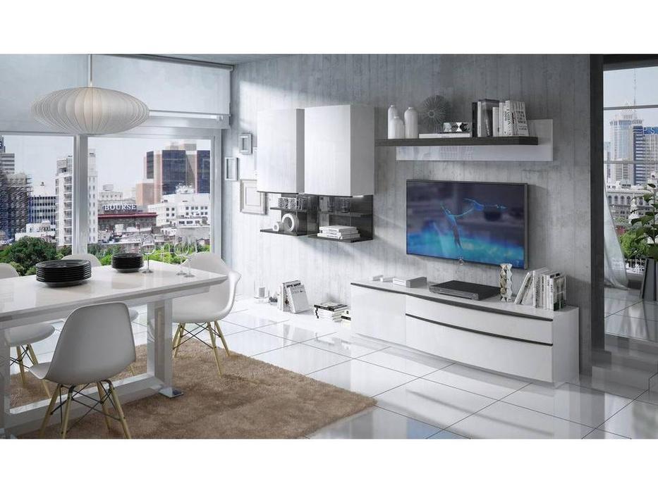 Fenicia Mobiliario: Fenicia: стенка в гостиную  (белый, серый)