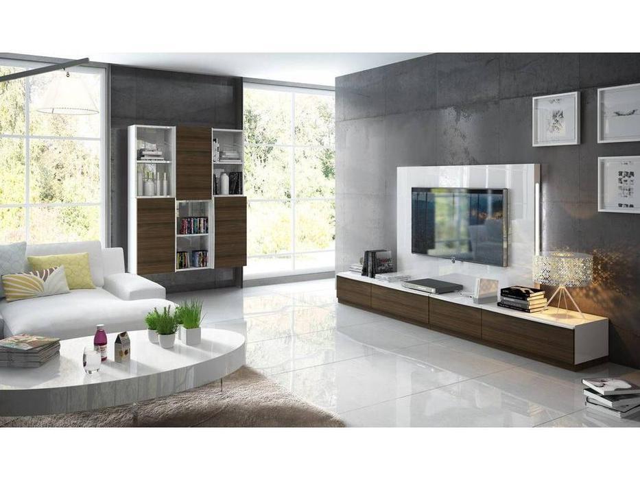 Fenicia Mobiliario: Fenicia: стенка в гостиную  (белый, дымчатый орех)