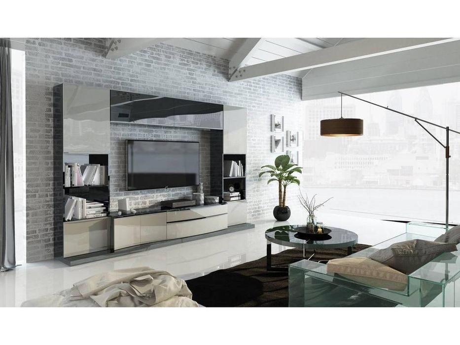 Fenicia Mobiliario: Fenicia: стенка в гостиную  (черный, бежевый)