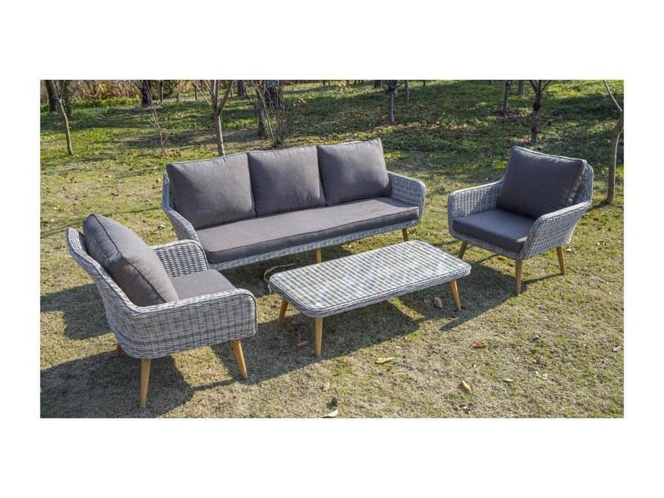 4SIS: Прованс: диван 3 местный  (белый, серый)
