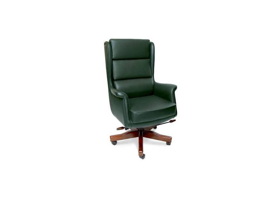Ришар: кресло руководителя  (шпон, черешня, кожа)