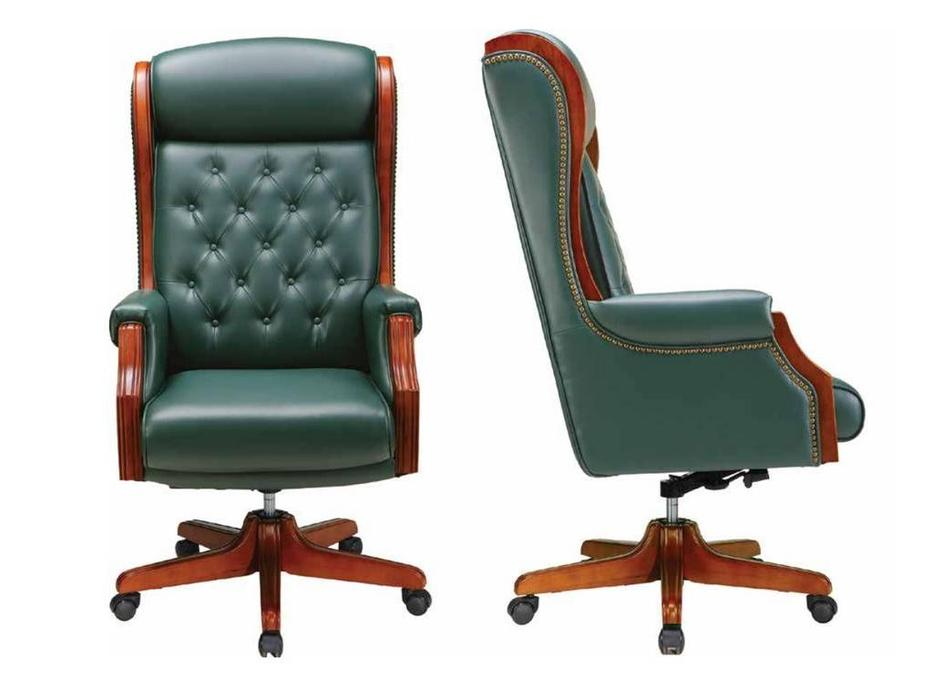 Шен-жен: кресло руководителя  (шпон, черешня, кожа)