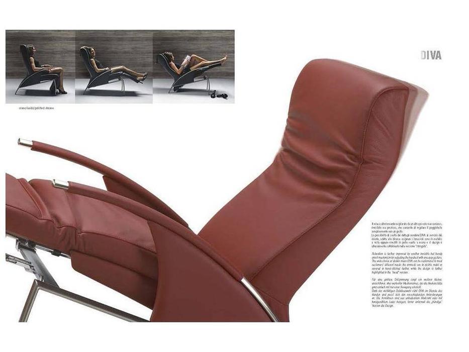 Zani: Diva: кресло с механизмом Relax (кожа)