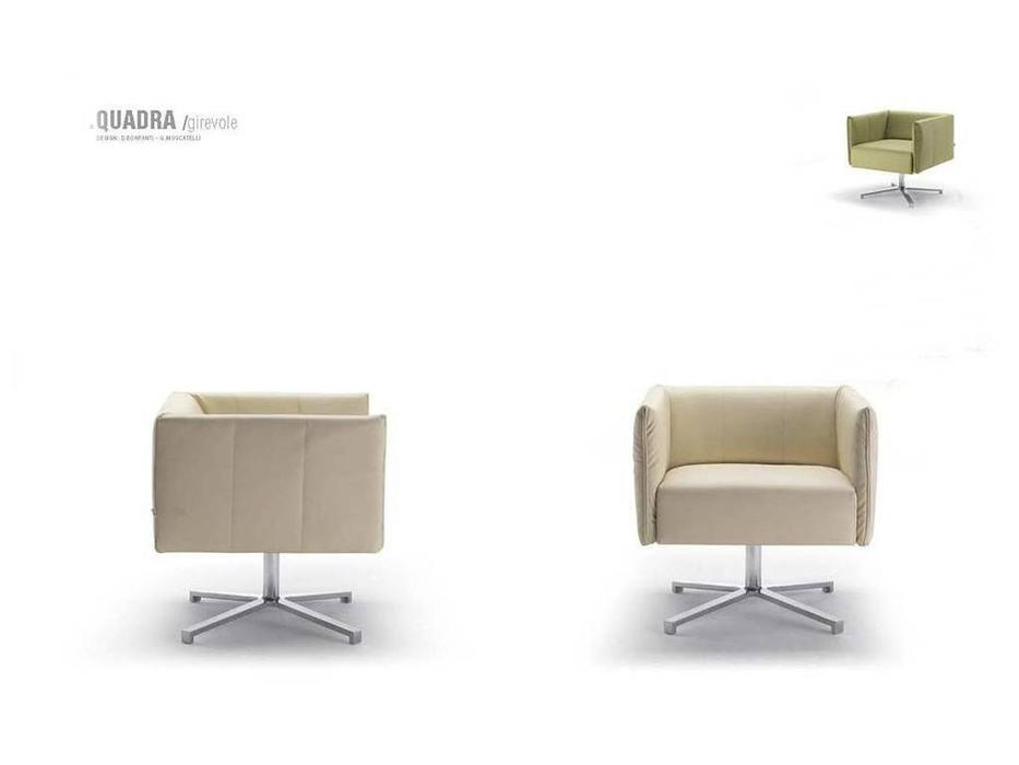Zani: Quadra: кресло вращающееся (кожа)