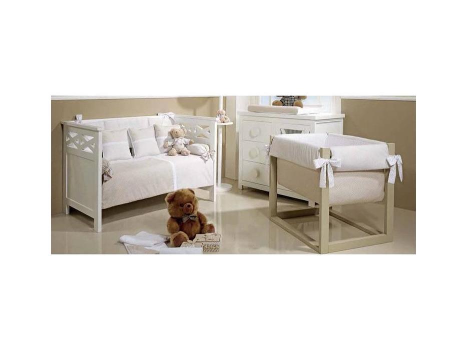 Trebol: Infantil: кровать для младенца 70х140 (белый)