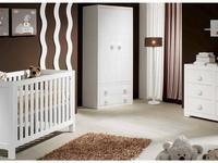 Trebol: Infantil: шкаф 2-х дверный с 2 ящиками (белый)