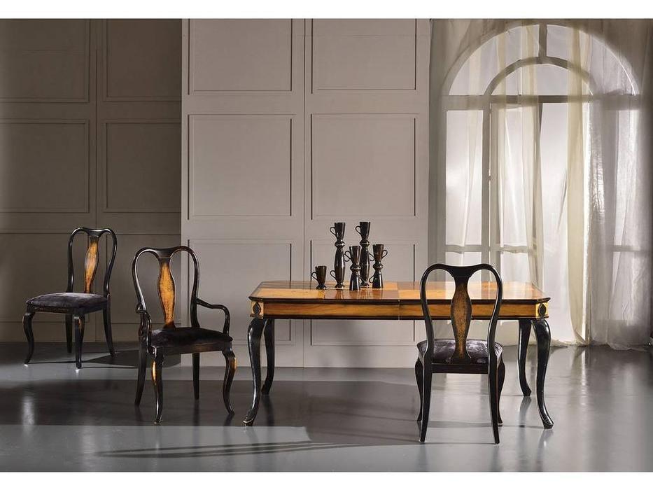 Veneta Sedie: Queen Anne: стол обеденный  раскладной (Moro Veneziano)