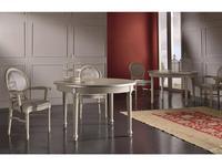 Veneta Sedie: Luidgi XVI: стол обеденный раскладной круглый  (P6 decape)