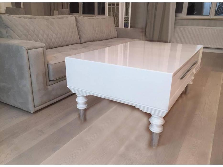 СJ: Adagio fresh: стол журнальный  (Blanco, aluminio)