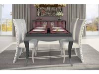 СJ: Adagio fresh: стол обеденный  (Negro, Polipiel Rojo)