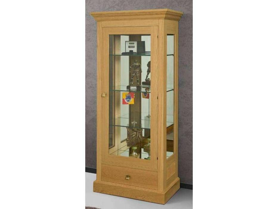 IDC Mobiliario: витрина 1 дверная  с ящиком (вишня)