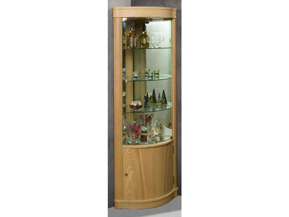 IDC Mobiliario: витрина угловая  (дуб)