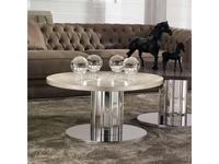 DV Home Collection: Douglas: стол журнальный  (бронза, кожа)