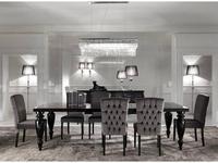 DV Home Collection: Ever: стол обеденный на 10 человек  (черное эбеновое дерево, лак)