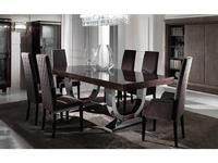 DV Home Collection: Hermes: стол обеденный  раскладной (черное эбеновое дерево, лак)