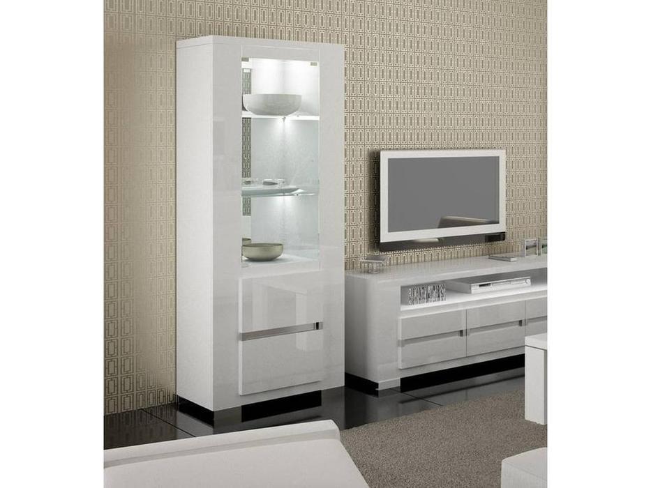 Status: Elegance: витрина 1 дверная  (белый)