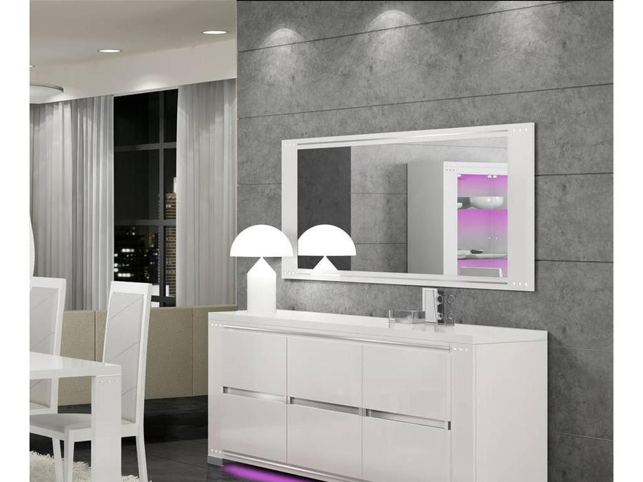 Status: Elegance diamond: зеркало настенное  (белый)
