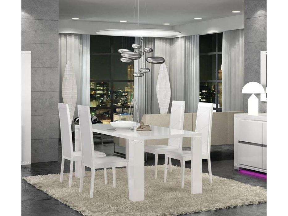 Status: Elegance diamond: стол обеденный   (белый)