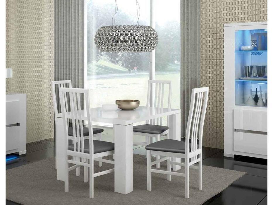 Status: Elegance diamond: стул  (белый, кож.зам серый)